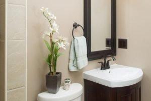 Great basement half bathroom layout ideas #halfbathroomideas #smallbathroomideas #bathroomdesignideas