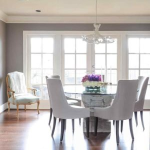 Wonderful blue grey dining room #diningroompaintcolors #diningroompaintideas