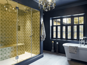 Staggering tile reglazing #bathroomtileideas #showertile #bathroomtilefloor