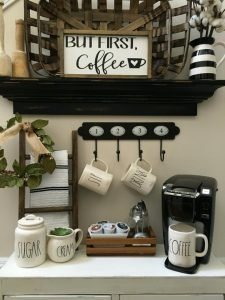 40+ Brilliant Coffee Station Ideas for All Coffee rs to ... on coffee house kitchen design ideas, kitchen fridge ideas, kitchen coffee center ideas, kitchen decor coffee house, coffee themed kitchen ideas, coffee bar ideas, kitchen wine station, kitchen couch ideas, kitchen buffet ideas, kitchen bookshelf ideas, kitchen baking station, kitchen library ideas, kitchen beverage station, martha stewart kitchen ideas, country living 500 kitchen ideas, great kitchen ideas, kitchen bathroom ideas, kitchen designs country living, coffee break set up ideas, kitchen cabinets,