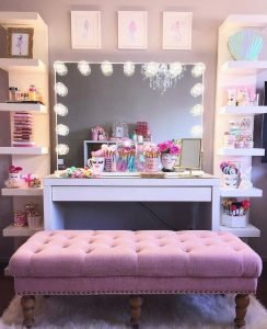 Delight ikea dressing table #makeuproomideas #makeupstorageideas #diymakeuporganizer