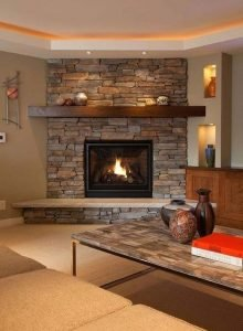Striking corner fireplace layout ideas #cornerfireplaceideas #livingroomfireplace #cornerfireplace