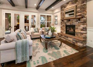 Awesome caddy corner fireplace ideas #cornerfireplaceideas #livingroomfireplace #cornerfireplace