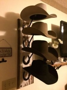 Terrific cowboy hat styles #diyhatrack #hatrackideas #caprack #hanginghatrack
