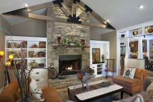 Eye-opening modern corner fireplace design ideas #cornerfireplaceideas #livingroomfireplace #cornerfireplace