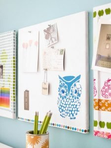 Excited cork board squares #corkboardideas #bulletinboardideas #walldecor