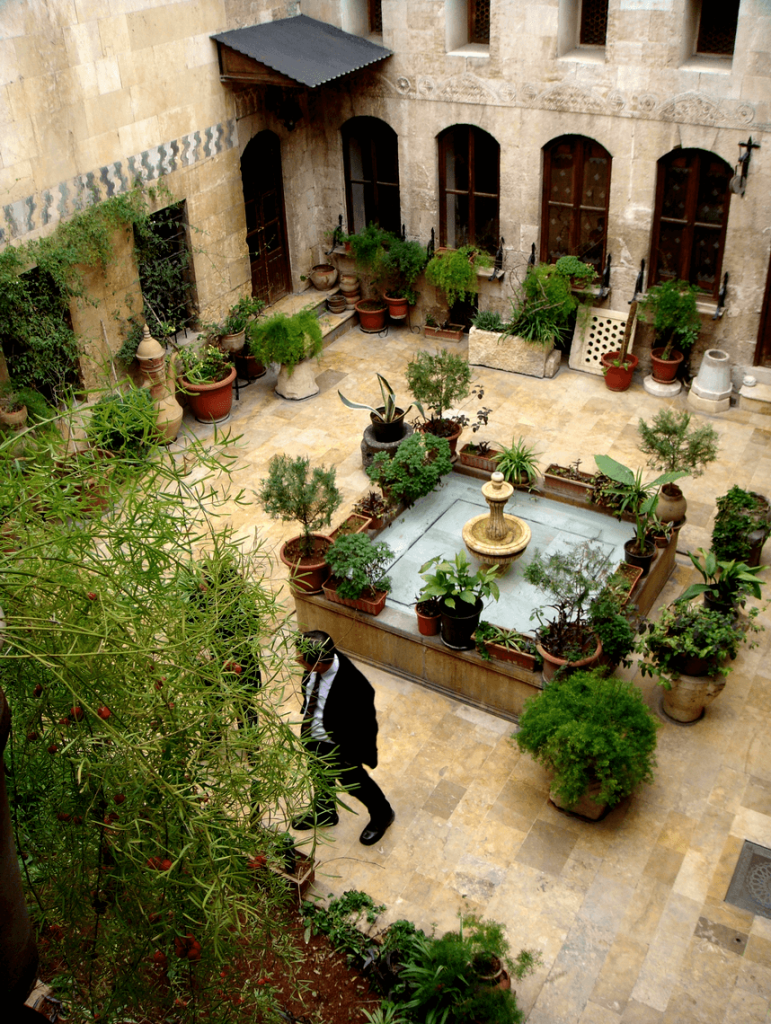 courtyard house type from syria
