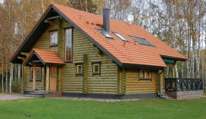 type of northern europe log house